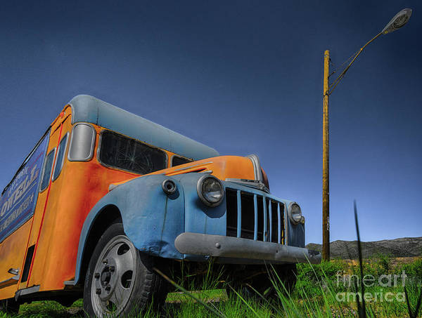 Primary Colors Photograph - Magic Bus by DiFigiano Photography