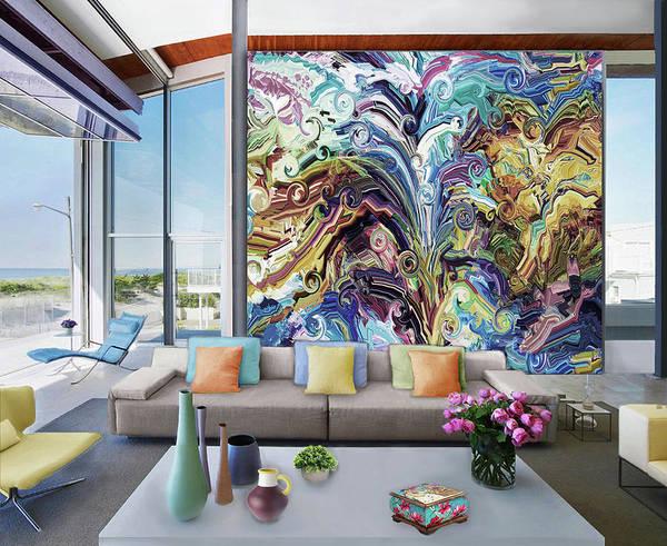 Wall Art - Digital Art - Magic Is All Round  Us-  Artwork In Situ by Grace Iradian