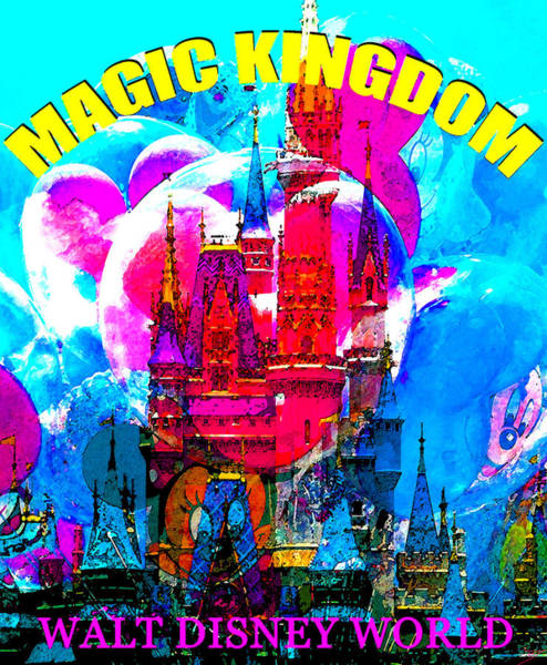 Wall Art - Painting - Magic Kingdom Classic Poster A by David Lee Thompson