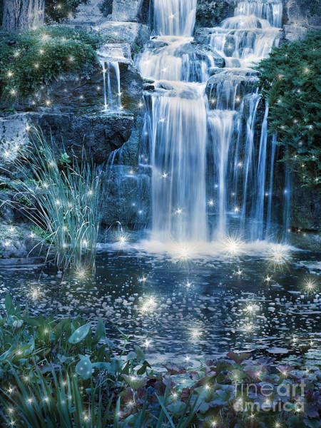 Wall Art - Photograph - Magic Night Waterfall Scene by Alex Hubenov