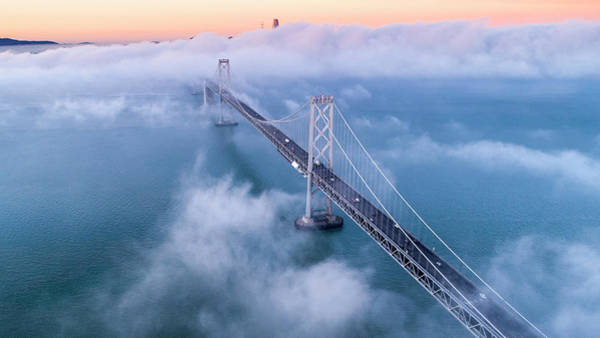 Wall Art - Photograph - Magical Bay Bridge In Fog by Vincent James