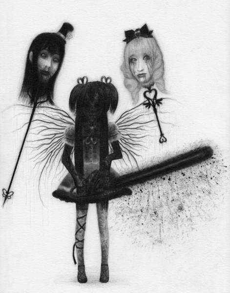 Drawing - Magical Girl Bloody Nightmare - Artwork by Ryan Nieves