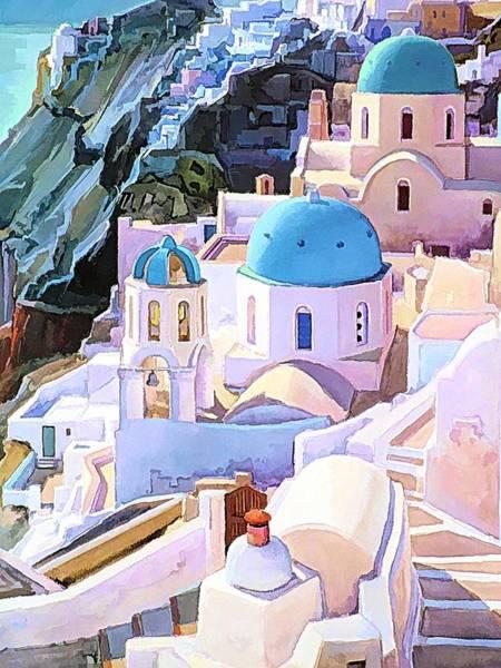 Digital Art - Magical Santorini by Joseph Hendrix