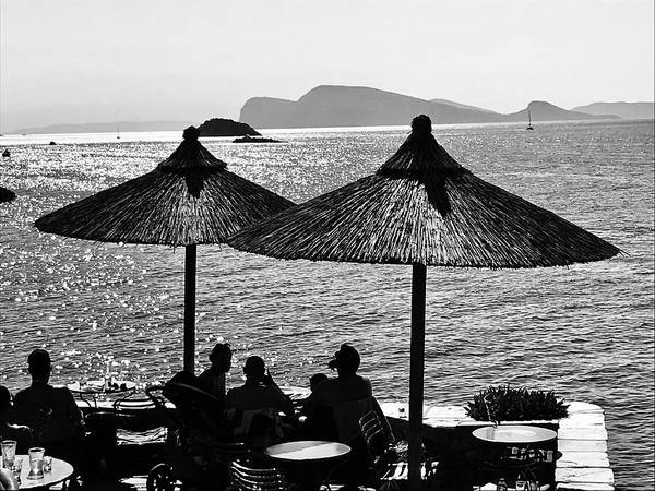 Arte Photograph - Magical Seaside Drinks In Greece by Funkpix Photo Hunter