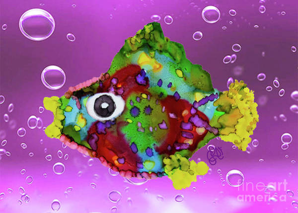 Painting - Magikarp Funky Fish by Christine Dekkers