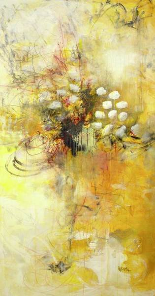 Painting - Magnificant The Yellow Painting by Laurie Maves ART