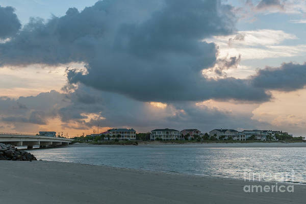 Photograph - Magnificient Clouds Over Breach Inlet by Dale Powell