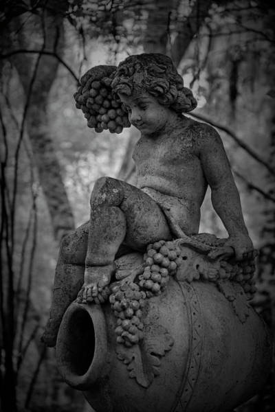 Wall Art - Photograph - Magnolia Child Statue by Jon Glaser