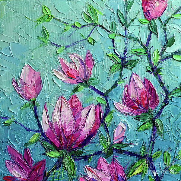 Wall Art - Painting - Magnolias by Mona Edulesco