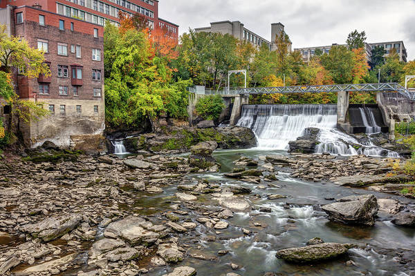 Photograph - Magog River Dam In Sherbrooke Downtown by Pierre Leclerc Photography