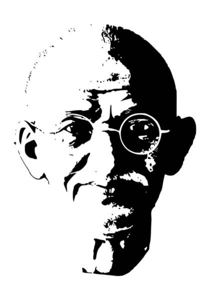 Wall Art - Digital Art - Mahatma Gandhi Minimalistic Pop Art by Filip Hellman