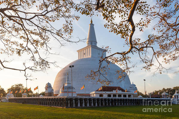 East Asia Wall Art - Photograph - Mahatupa Big Dagoba In Anuradhapura At by Honza Hruby