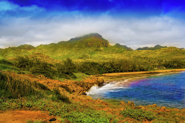 Mahaulepu Beach Photograph - Mahaulepu Coastal Trail, Kauai, Hawaii by Rebecca Elmore
