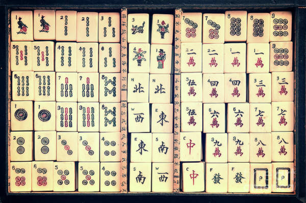 Wall Art - Photograph - Mahjong Game by Delphimages Photo Creations