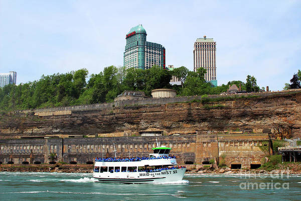 Photograph - Maid Of The Mist Boat And Sheraton Hotel - Canada by Doc Braham