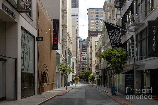 Wall Art - Photograph - Maiden Lane Union Square San Francisco Formerly A Pre 1906 Earthquake Red Light District R373 by Wingsdomain Art and Photography