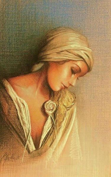 Sfumato Drawing - Maiden by Richard Remblier