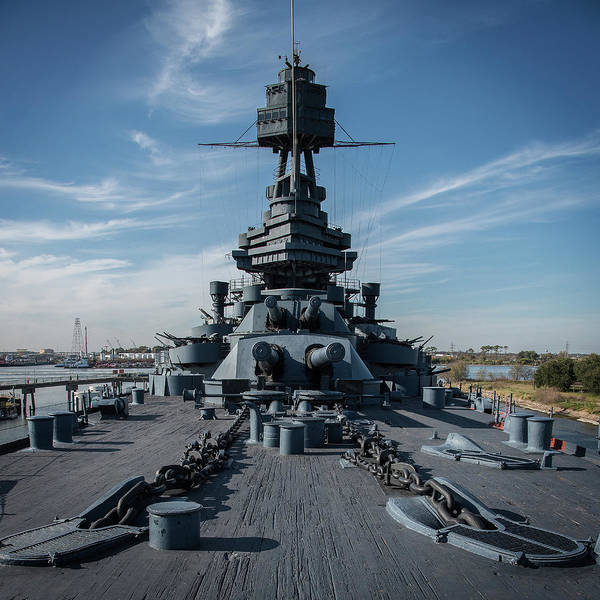 Photograph - Main Deck, Uss Texas by Bud Simpson