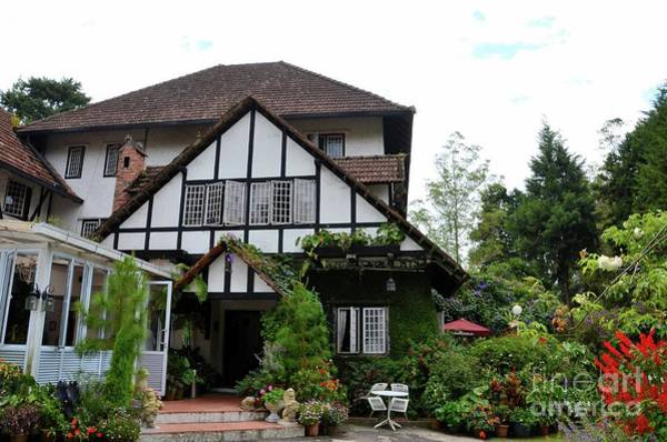 Photograph - Main Entrance To Colonial Era Tudor Style Bungalow Cottage Now A Hotel Cameron Highlands Malaysia by Imran Ahmed