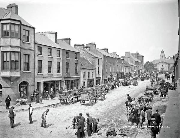Painting - Main Street In Roscommon Town, Ca. 1903 By Robert French by Robert French