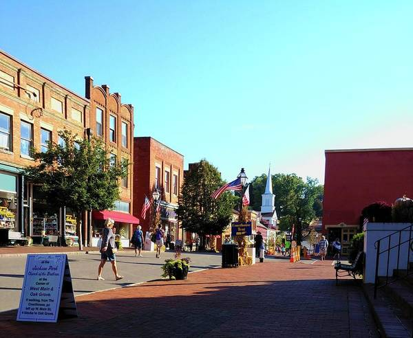 Photograph - Main Street Jonesborough Tn by Vincent Green