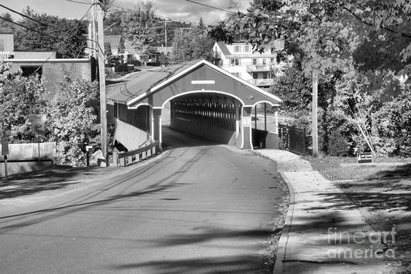 Photograph - Main Street Swanzey New Hampshire Black And White by Adam Jewell