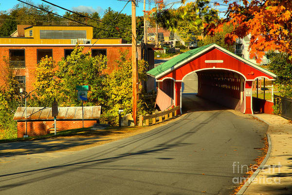 Photograph - Main Street Thompson Covered Bridge by Adam Jewell