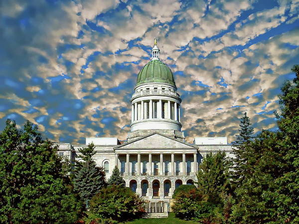 Photograph - Maine Capitol Building by Anthony Dezenzio