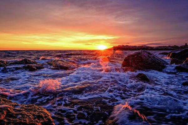 Photograph - Maine Coast Sunrise. by Jeff Sinon