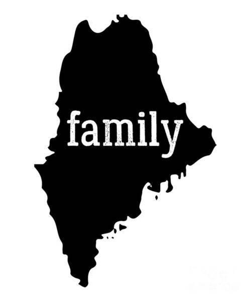Bar Harbor Digital Art - Maine Cool Gift Family State Shirt Dark by J P