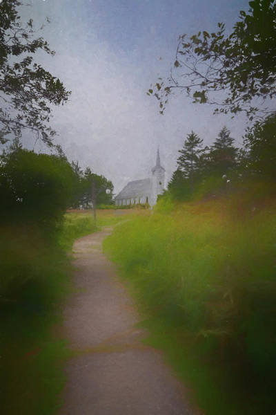 Photograph - Maine Island Chapel by Tom Singleton