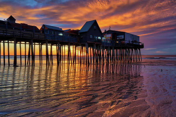 Photograph - Maine Old Orchard Beach Pier by Juergen Roth