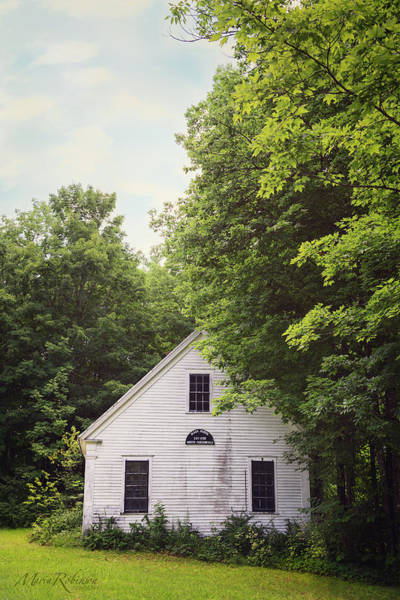 Photograph - Maine School House by Maria Robinson