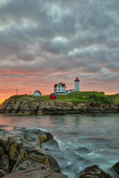 Photograph - Maine Sunrise At Cape Neddick Lighthouse by Juergen Roth