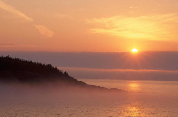Wall Art - Photograph - Maine Sunrise by Michael Lustbader