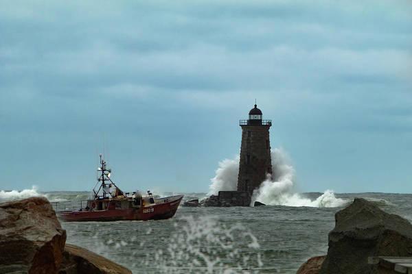 Photograph - Maine Whaleback Lighthouse by Jeff Folger