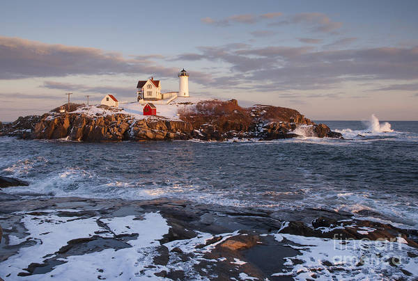 Haunted Wall Art - Photograph - Maines Nubble Cape Neddick Lighthouse by Allan Wood Photography
