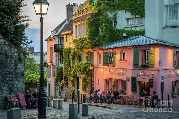 Photograph - Maison Rose Evening by Brian Jannsen