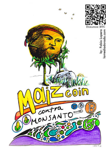 Bitcoin Drawing - Maizcoin1 by Fabio Lopera