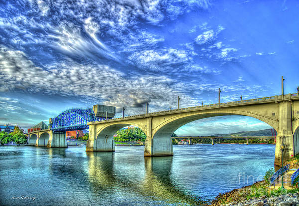 Wall Art - Photograph - Majestic Arches Chief John Ross Bridge Spanning The Tennessee River Art by Reid Callaway