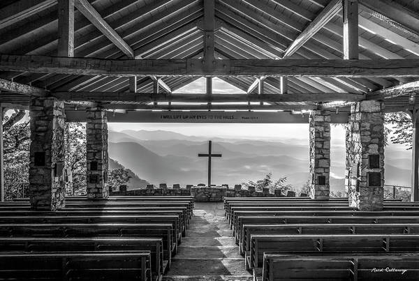 Wall Art - Photograph - Majestic Beauty 2 B W Pretty Place Chapel Symmes Chapel Art by Reid Callaway