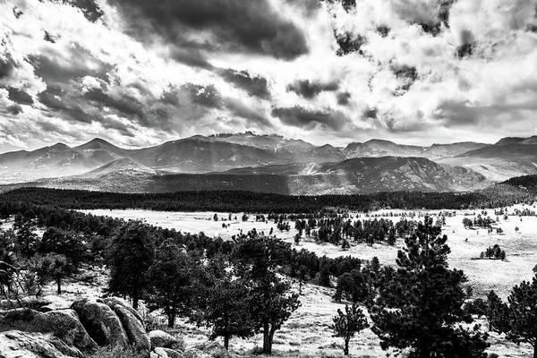 Photograph - Majestic Clouds Bw by James L Bartlett