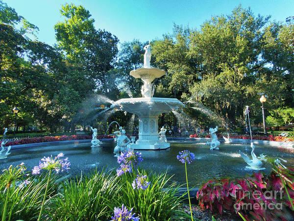 Photograph - Majestic Forsyth Park Fountain by Amy Dundon