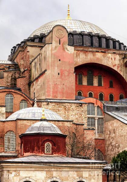 Sancta Sophia Photograph - Majestic Hagia Sophia Design Instanbul by John Rizzuto