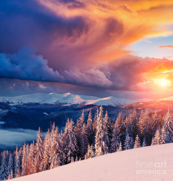 Beautiful Sunrise Photograph - Majestic Landscape Glowing By Sunlight by Creative Travel Projects