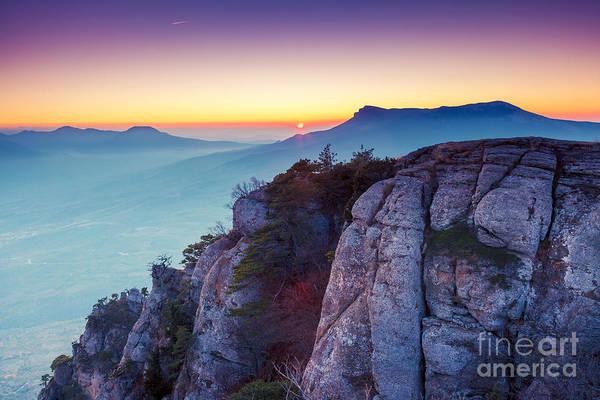 Beautiful Sunrise Photograph - Majestic Morning Mountain Landscape by Creative Travel Projects