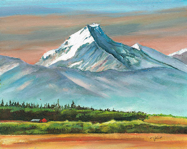 Painting - Majestic Mount Cook by Val Stokes