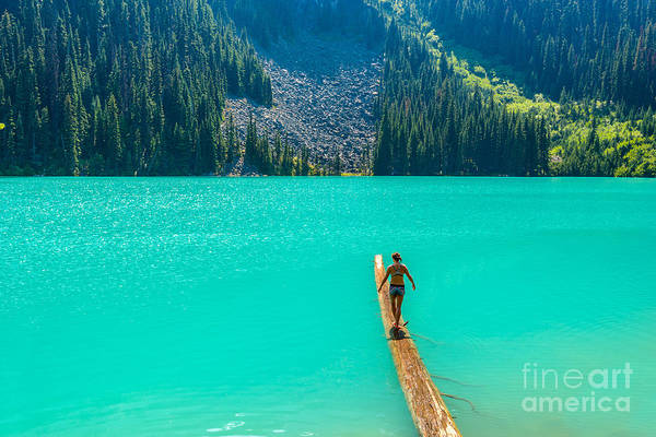 Wall Art - Photograph - Majestic Mountain Lake In Canada. Upper by Karamysh