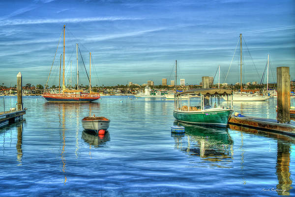 Photograph - Majestic Newport Harbor Newport Bay Harbor Southern California Art by Reid Callaway