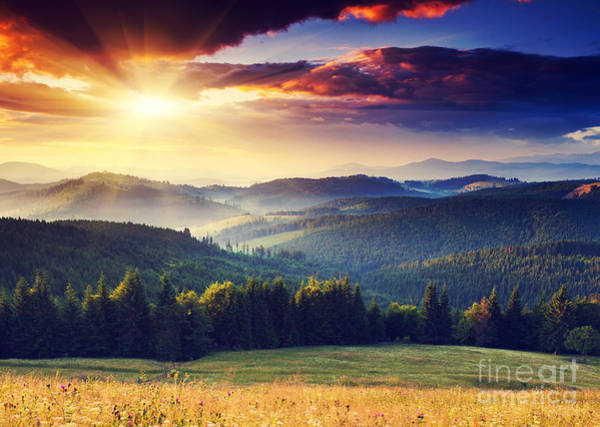 Wall Art - Photograph - Majestic Sunset In The Mountains by Creative Travel Projects